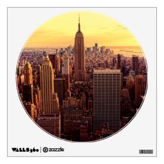 New York skyline city with Empire State Wall Sticker