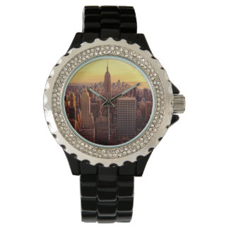 New York skyline city with Empire State Wristwatches