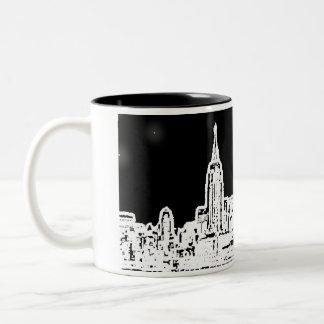 new_york_skyline copy, New York City, City Brig... Two-Tone Coffee Mug