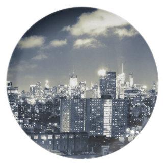 New York skyline Dinner Plate