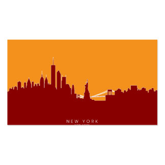 New York Skyline Double-Sided Standard Business Cards (Pack Of 100)