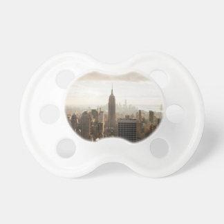 New York Skyline - dusk - grey Pacifier