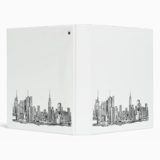 New York skyline file binder