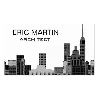 New York Skyline Grey Modern Architecture Business Card