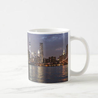 New York skyline Hudson River World Trade Center Coffee Mug
