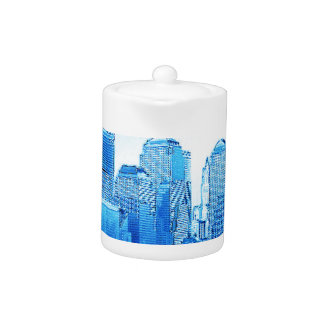 new york, skyline, iceblue
