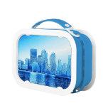 New York,skyline iceblue Lunchbox