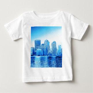 new york, skyline, iceblue tees