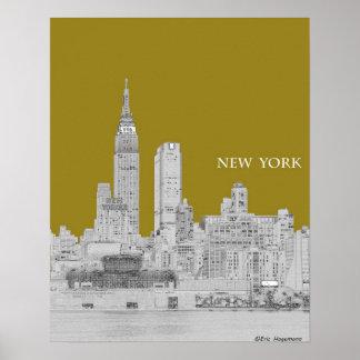 New York Skyline Illustration Poster