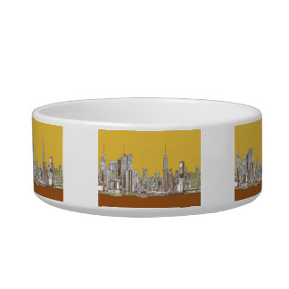 New York skyline in yellow Bowl