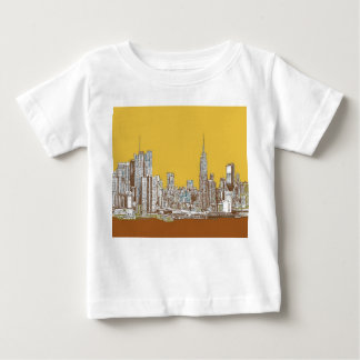 New York skyline in yellow Infant T-shirt