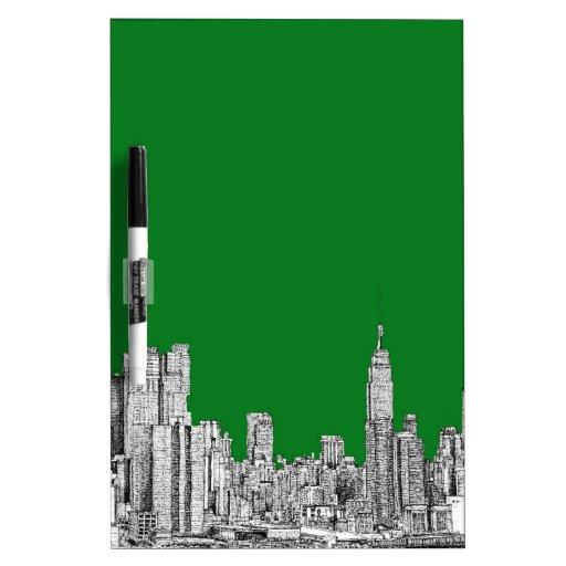 New York skyline ink in green Dry-Erase Boards