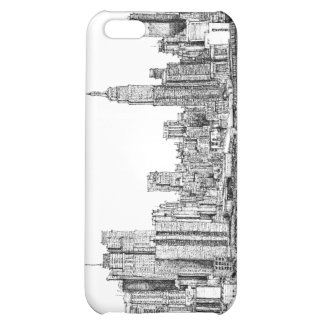 New York skyline ink Case For iPhone 5C