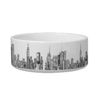 New York skyline ink poochie dish