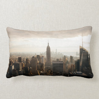 New York skyline Lumbar Pillow