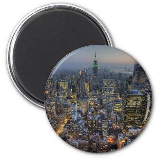 New York Skyline 2 Inch Round Magnet
