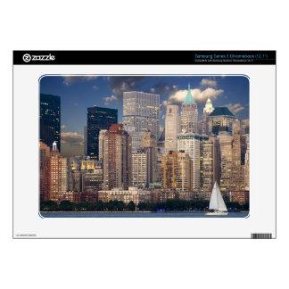 New York Skyline Manhattan Hudson Samsung Chromebook Skins