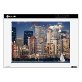 New York Skyline Manhattan Hudson Acer Chromebook Decal
