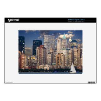 New York Skyline Manhattan Hudson Decal For Netbook