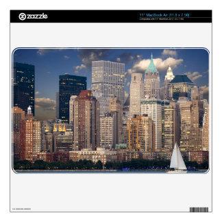 New York Skyline Manhattan Hudson Decal For The MacBook Air