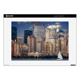 "New York Skyline Manhattan Hudson Decal For 15"" Laptop"