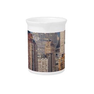 New York Skyline Manhattan Hudson Skyscraper Urban Drink Pitcher