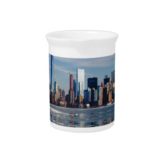 New York Skyline New York City City Manhattan Pitcher