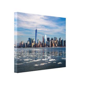 New York Skyline on a Bright Winter Day Canvas Print