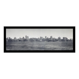 New York Skyline Photo 1900 Print