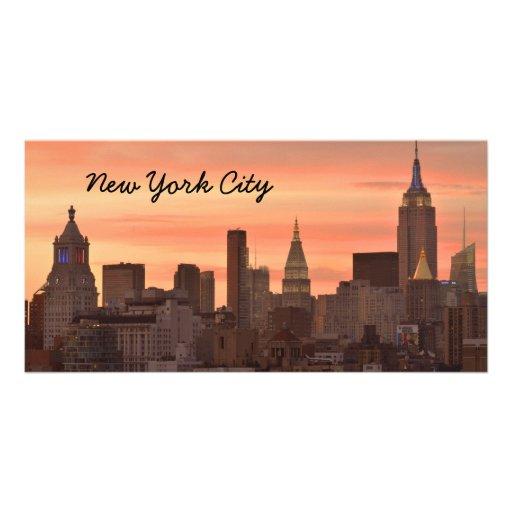 New York Skyline Photo Card