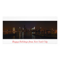 New York skyline photo Happy Holidays card