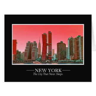 New York Skyline Photograph Frame Personalize Card
