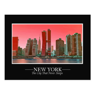 New York Skyline Photograph Frame Personalize Postcard