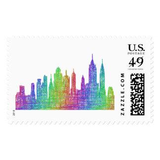 New York skyline Postage Stamp