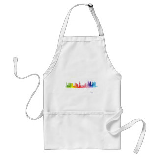 New York skyline Rainbow Adult Apron