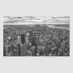 New York Skyline Rectangle Stickers