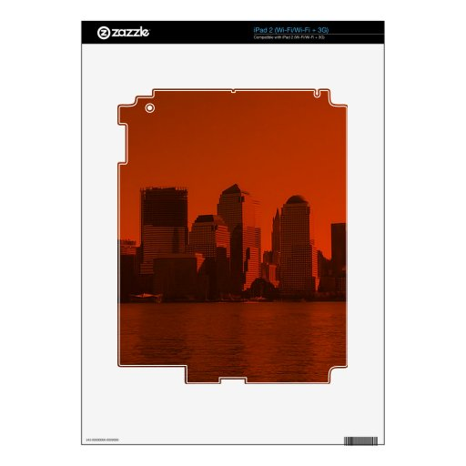 new york, skyline, red skins for the iPad 2
