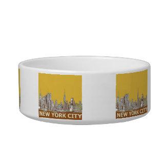 New York skyline saffron Bowl
