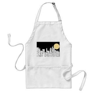 New York Skyline Silhouette Adult Apron