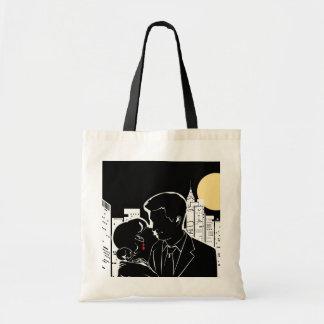 New York Skyline Silhouette Budget Tote Bag