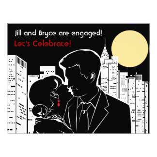 New York Skyline Silhouette Personalized Invite