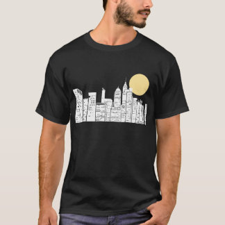 New York Skyline Silhouette T-Shirt