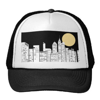 New York Skyline Silhouette Trucker Hat