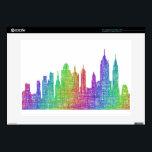"""New York skyline Skins For 15&quot; Laptops<br><div class=""""desc"""">New York city skyline silhouette - multicolor line art</div>"""