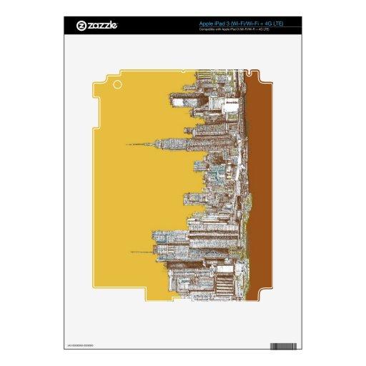 New York skyline Skins For iPad 3