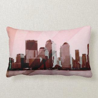 new york, skyline, soft pink pillows