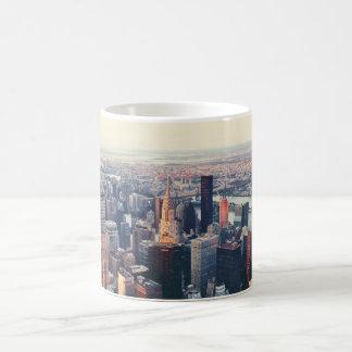 New York skyline sunrise Mugs