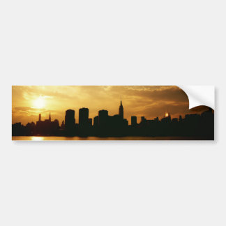 New York Skyline Sunset Bumper Sticker