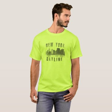 USA Themed New York Skyline - T-Shirt