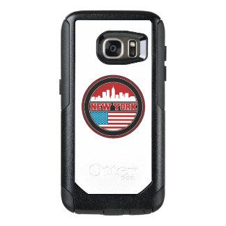 New York Skyline   United States Flag OtterBox Samsung Galaxy S7 Case
